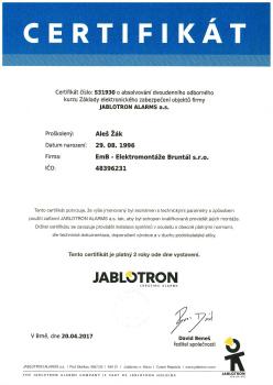 Elektronické zabezpečení objektů Jablotron